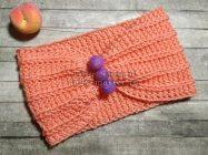 Оранжевая повязка на голову крючком