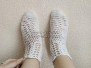 Ажурные носочки крючком