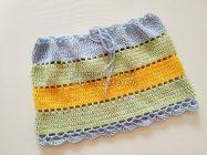 Модная полосатая летняя юбка крючком