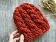 Теплая шапка спицами – идеальный вариант для зимы