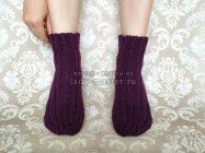 Теплые носочки крючком, которые вяжутся одним полотном