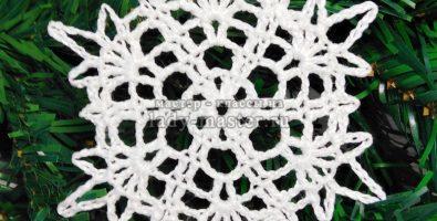 Ажурная снежинка крючком: схема и описание вязания