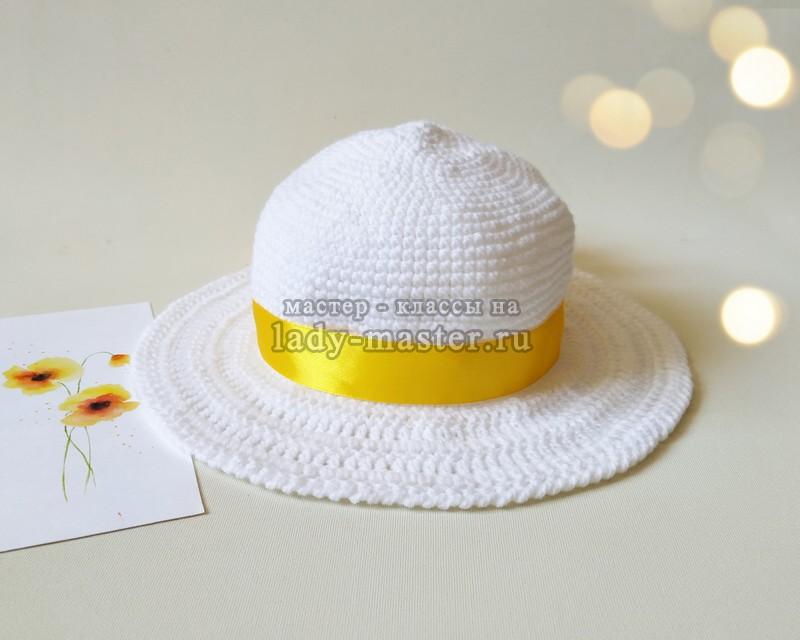 Стильная летняя шляпка крючком